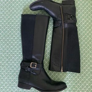 Frye below knee black boots
